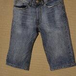 Узкие вареные синие джинсовые шорты New Look Skinny Англия 28 р.