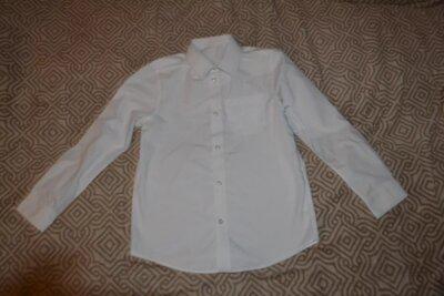 Белая рубашка F&F на 10 лет рост 140 Англия