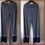 Стильные длинные стрейчевые брюки штаны р.М с принтом Ellei Италия