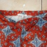Стильные велюровые брюки р.М с ярким принтом Easy Wear Испания