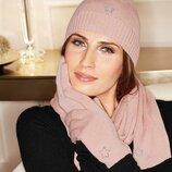 Модная теплая женская шапка cashmere blend Италия