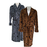 Мужской халат длинный велсофт тёплый и мягкий