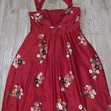 Красивенное платье сарафан с цветами Vila Clothes