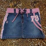 модная джинцевая юбка
