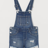 джинсовый комбинезон-шорты H&M