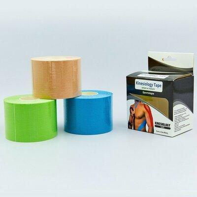 Кинезио тейп эластичный пластырь Kinesio tape 0841-5 длина 5м, ширина 5см