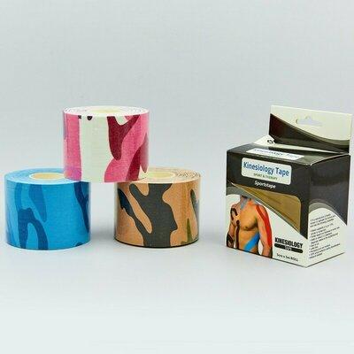 Кинезио тейп эластичный пластырь Kinesio tape 0842-5 длина 5м, ширина 5см