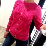 Кофта dunnes на пуговицах свитер розовый брендовый s свитер свитшот