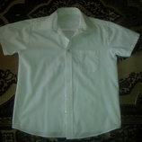 Белая рубашка George на мальчика 8-9 лет, рост 128-135 см