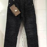 Утепленные брюки вельвет на флисе на мальчика 4-13 лет, 104-158 рост