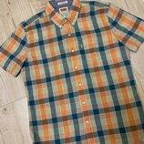 Рубашка с коротким рукавчиком в клетку размер м levis