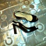 Шикарные босоножки на каблуке на золушку donetella.шок цена
