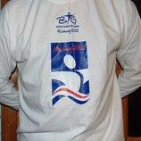 Фирменная катоновая футболка-реглан худи длинний рукав fruit of the loom.хл-2хл .
