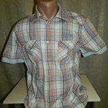 Рубашка мужская с коротким рукавом в клетку Tom Tailor размер 50-52.