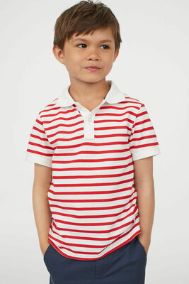 Стильное поло на мальчика H&M полоска хлопок