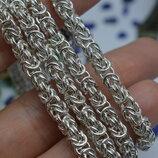 Серебряная цепь цепочка ланцюжок византия візантія унисекс 60см 925