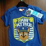 Детская футболка для мальчика Дисней Гонщик щенячий патруль