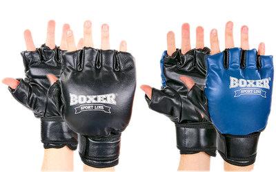 Перчатки для рукопашного боя, кунг-фу, самбо Boxer 2020 кожа, размер L 2 цвета