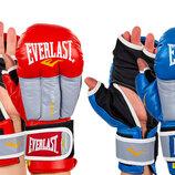 Перчатки гибридные для единоборств кожаные MMA Elast 0271 10-12 унций 2 цвета