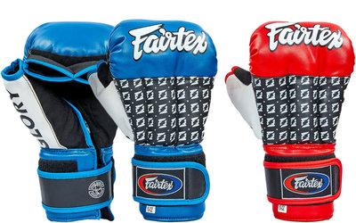 Перчатки гибридные для единоборств кожаные MMA Fairtex 0274 10-12 унций 2 цвета