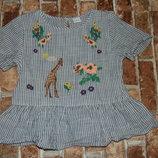 блузка вышиванка хб 9 лет Некст сток большой выбор одежды 1-16 лет