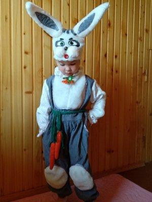 Прокат детский карнавальный костюм зайки, зайца, зайчика, зайченя на утренник, Киев