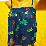 яркая блузка-топ от Hollister, оригинал р. S