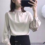 26 Нарядная Легкая шелковая блузка 44-46 в расцветках W 11261
