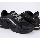 Черные мужские кроссовки на толстой подошве