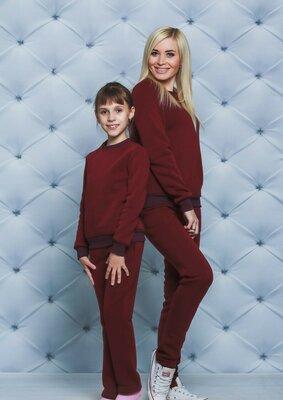 Костюм для девочки утепленный бордо vsl-01398-2 детский теплый спортивный костюм