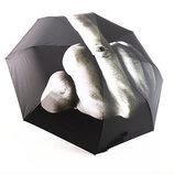 Оригинальный складной зонт с принтом Fuck