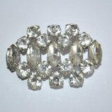 Винтажная чешская брошь с кристаллами
