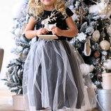 Платье нарядное на девочку 98-116 см.