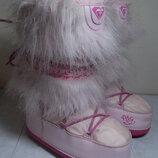 Детские сноубутсы эко-кожа текстиль Roxy 35 р.стелька 22.5 см.