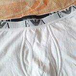 Трусы шорты фирменные белые Emporio Armani р.48-50 L
