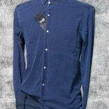 Figo, джинсона, турецька, чоловіча сорочка, синя, індіго, довгий рукав, весняна, осіння