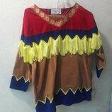 Яркий.красивый костюм Индейца.