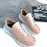 Женские кроссовки Gucci натуральная кожа