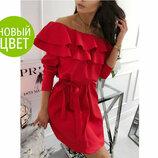 Стильное платье с воланом Лилит