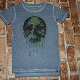 футболка хб Череп 4 года Некст сток большой выбор одежды 1-16 лет