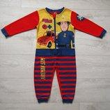Флисовый человечек слип пижама Пожарный Сэм 2-3 года