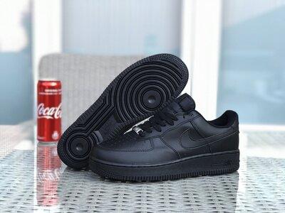 Мужские кроссовки Nike Air Force найк черные