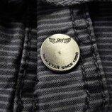 Мужские шорты серые в полоску притуманены бермуды New Star М 30