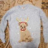 Шикарнейший, пушистенький свитерок 116-122