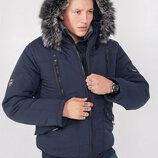 Зимняя куртка мужская короткая под резинку 48, 50, 52, 54, 56