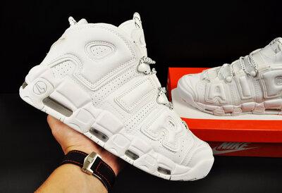 Кроссовки мужские Nike Air More Uptempo 96, белые 41-46р