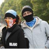 Теплый баф бандана маска Балаклава теплая на флизе