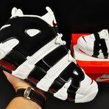 Кроссовки мужские Nike Air More Uptempo 96, белые с черным