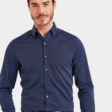 Мужская рубашка синяя lc waikiki / лс вайкики 3XL и 4XL в тонкий голубой принт