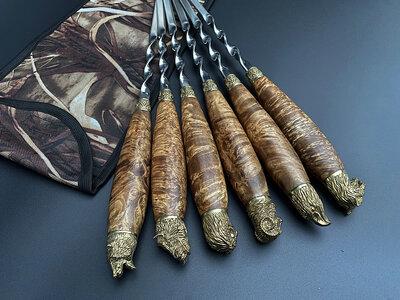 Подарочные шампуры Дикое поле в чехле из плотной ткани